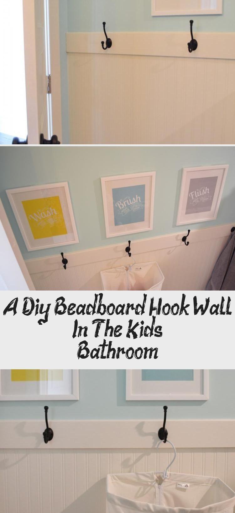 A Diy Beadboard Hook Wall In The Kids' Bathroom, 2020