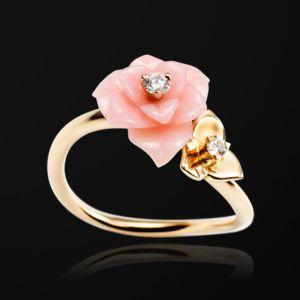 f3c06e6886e6 Anillo Oro rosado Diamante Ópalo - PIAGET Joyas y Alta Joyería ...
