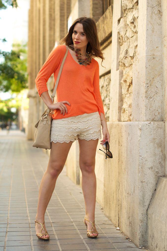 #fashion #fashionista @macarena gea orange & nude | Macarena Gea