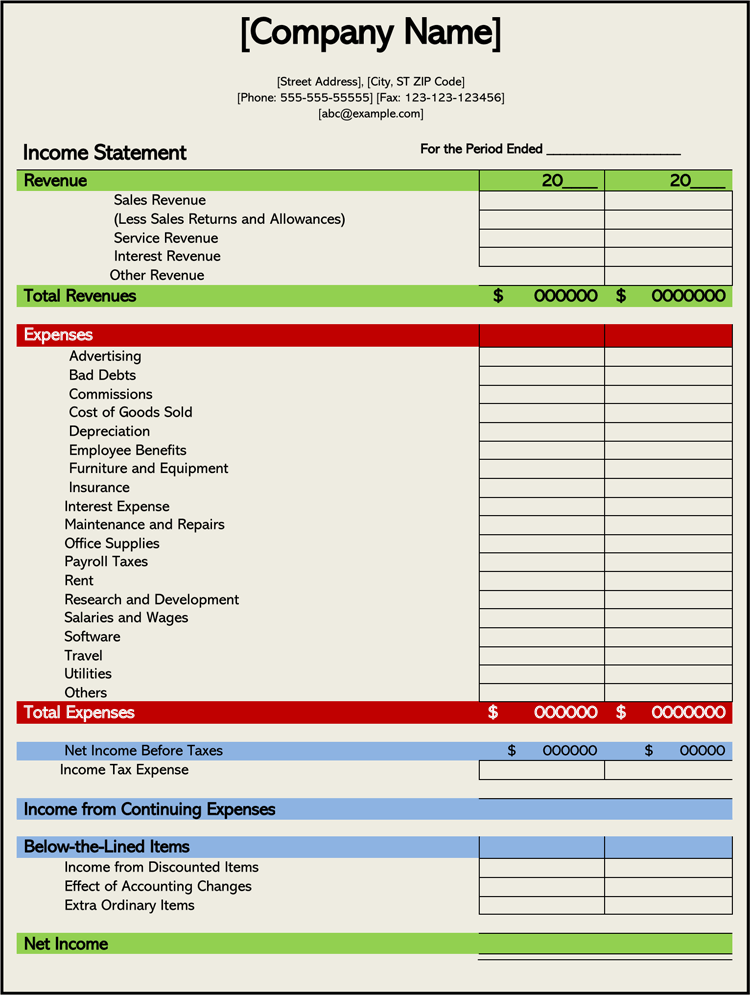 And Expense Statement Template in 2020 Statement