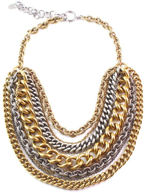 Elizabeth Cole Jewelry - Gold & Silver Chain Necklace