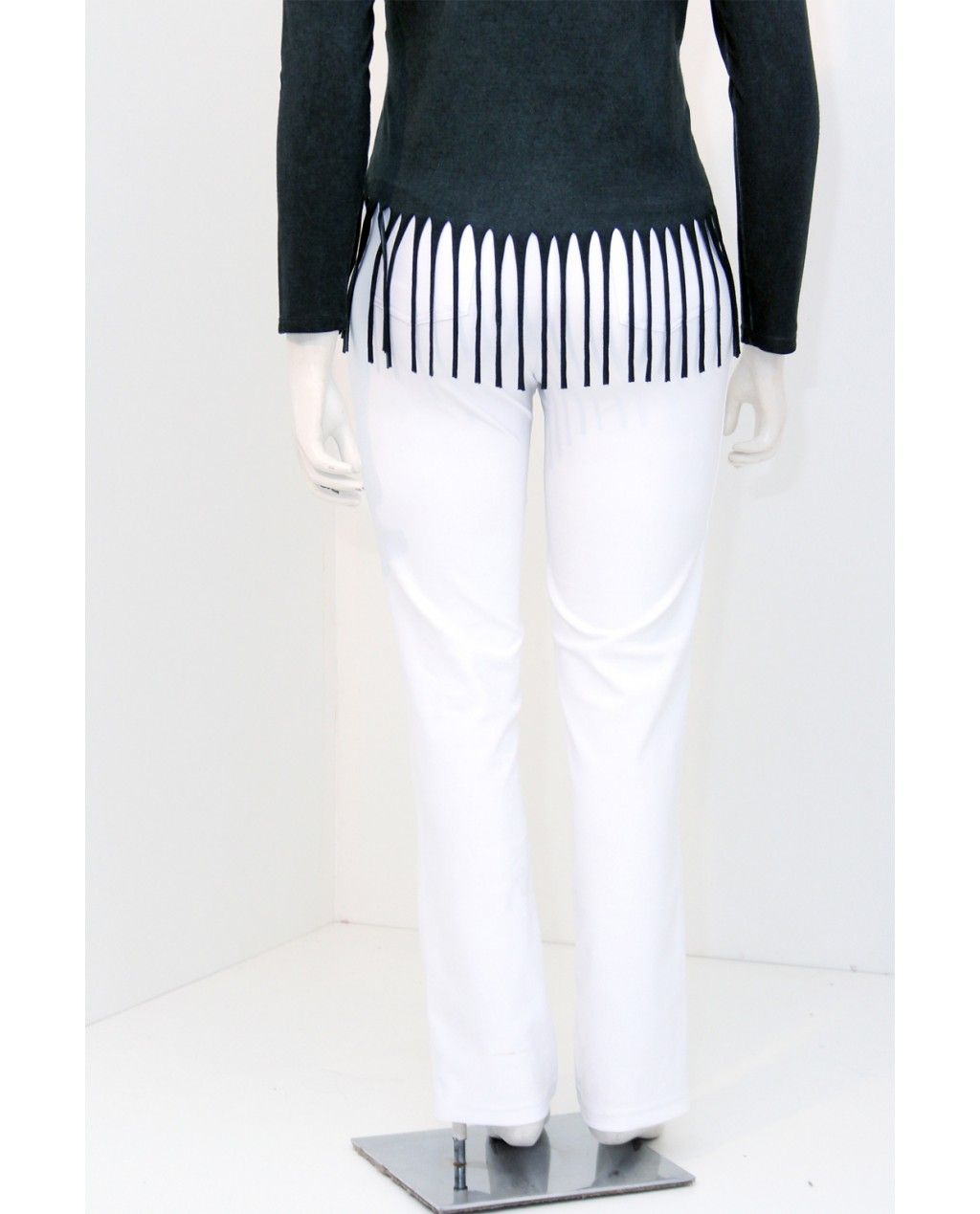 Calça Malha Branco Plus Size