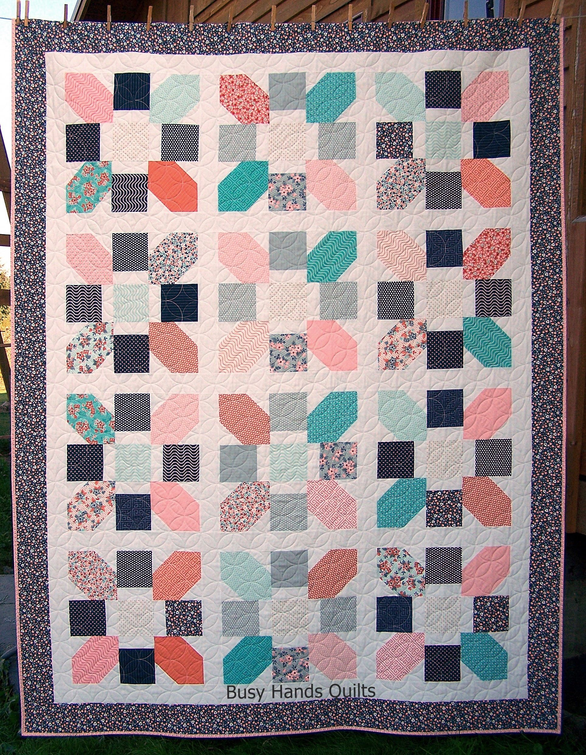 Ready to Ship, Twin Quilt, Modern Quilt, Sweet Floral Quilt, Old ... : old fashioned quilts for sale - Adamdwight.com