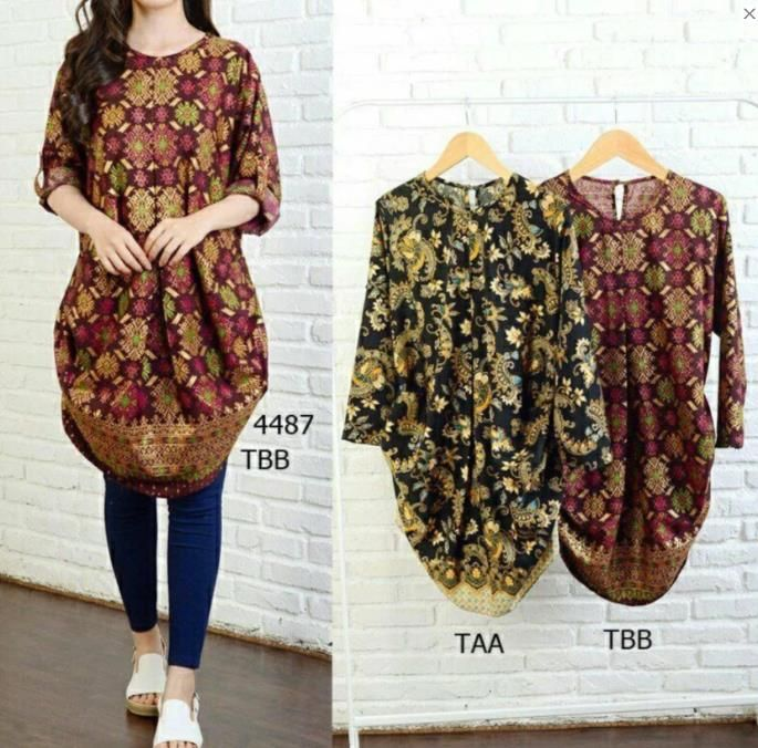 Model Baju Batik Wanita Gemuk 2018