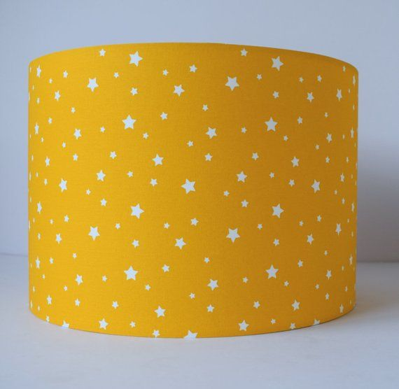 Bright Yellow Star Lampshade Nursery Light Shade Lamp For Table Decor Accessories