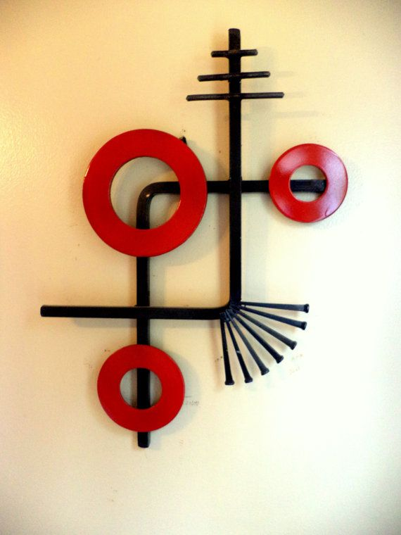 Magnificent Red Metal Wall Art Model - All About Wallart ...