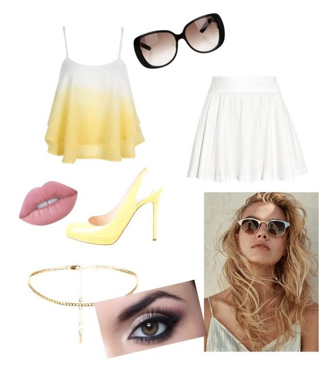 """""""good morning sunshine"""" by xfandomsxx ❤ liked on Polyvore featuring Alice + Olivia, Christian Louboutin, Gucci and Lime Crime"""