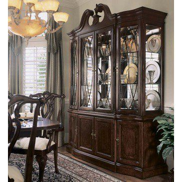 American Drew Cherry Grove Breakfront China Cabinet In Antique Entrancing Dining Room Accent Pieces Decorating Inspiration
