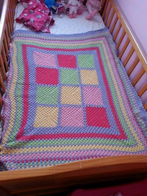 Mila's cot blanket