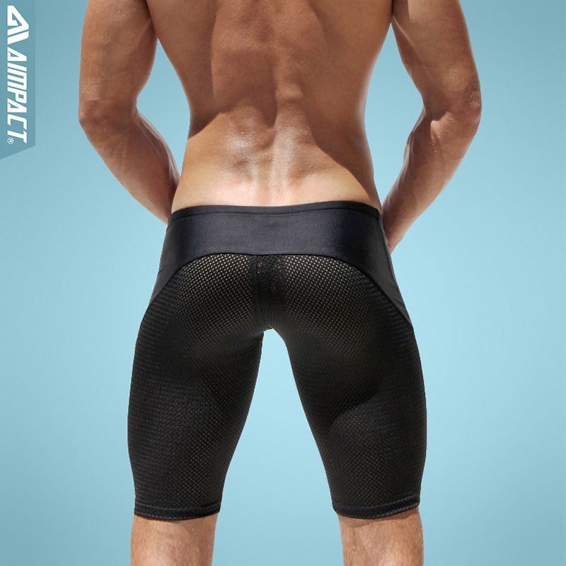 Aimpact Sexy Slim Fitted Men's Tight Shorts Casual Leisure Summer ...