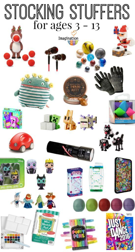 Stocking stuffers for kids and teens ages 3 13 cool for Good ideas for stocking stuffers