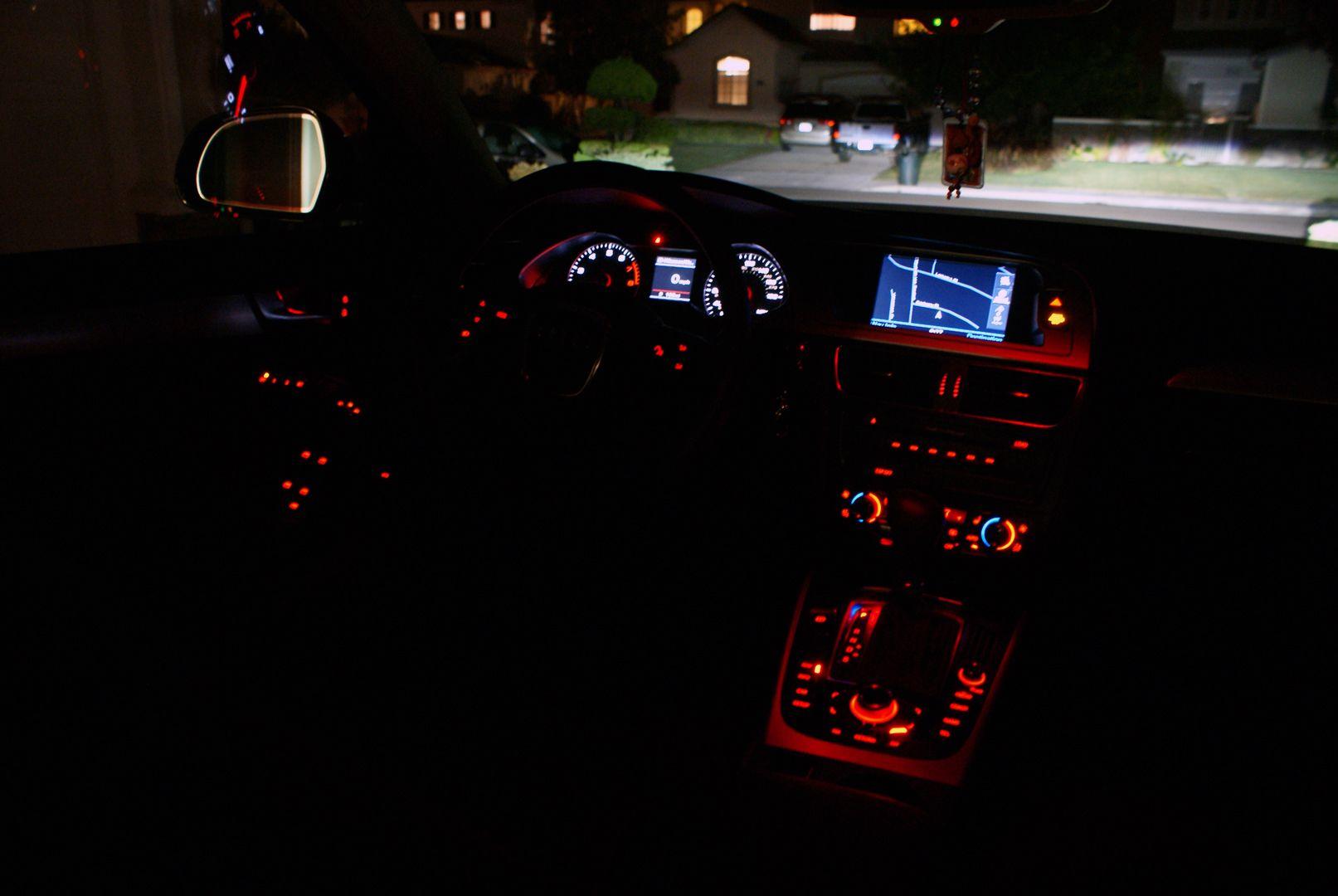 Audi A4 Interior Night Shot Everything Automotive Audi