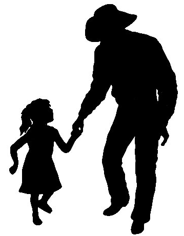 Cowboy and daughter silhouettes pinterest cowboys for Cowboy silhouette tattoo