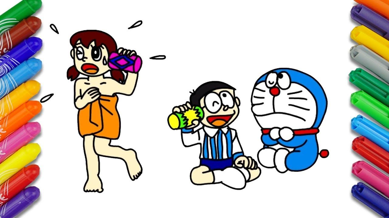 Draw And Color Doraemon Cartoon