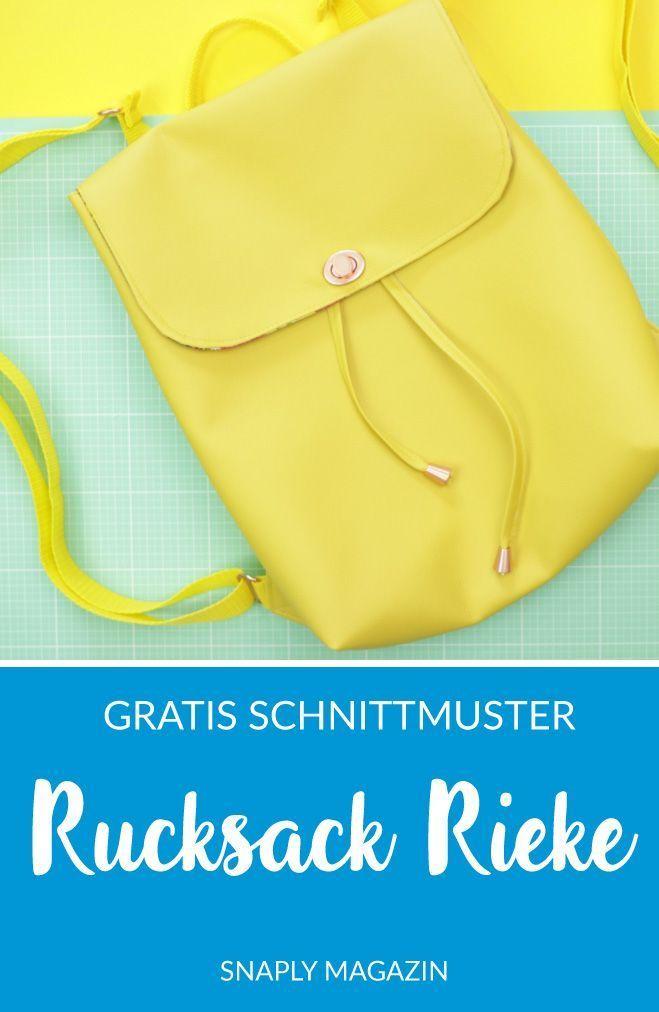 Rucksackrieke Gratis Schnittmuster Und Anleitung Snaply Magazin In 2020 Schnittmuster Rucksack Rucksack Nahen Schnittmuster Gratis Schnittmuster