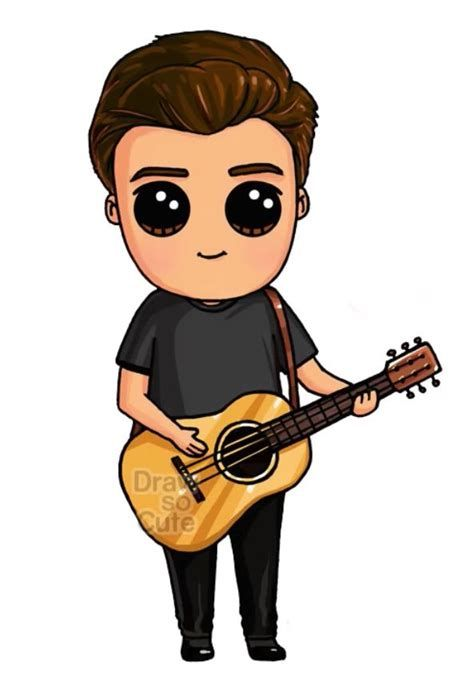 Drawshaenmendes🖤🤍 In 2020 | Cute Kawaii Drawings,