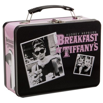Audrey Hepburn Breakfast at Tiffany's Tin Lunch Box or Tote