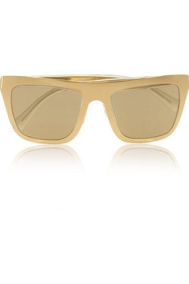 Aviator-style Rose Gold-plated Mirrored Sunglasses - Beige Dolce & Gabbana AZU13UrepB