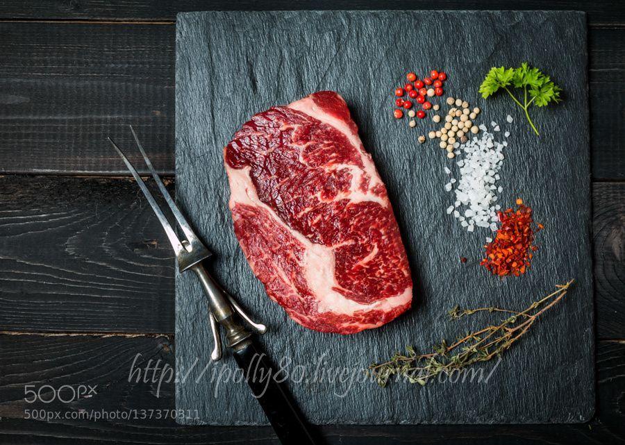 Rohes Frischfleisch Ribeye Steak von Roxiller, #Frischfleisch #Ribeye #Rohes #Roxiller #Steak #von