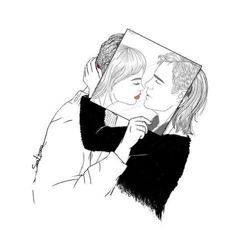 tú y yo,  yo y tú. dos extraños  otra vez.  #saraherranz #illustration #art #todoloquenuncatedijeloguardoaqui #todoloquenuncatedije #couple #agenda2016