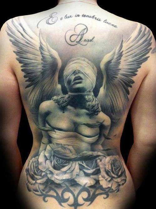 75 Tatuajes De Angeles De La Guarda Y Su Significado Tatuagens Tatuagens Retro Tatoo