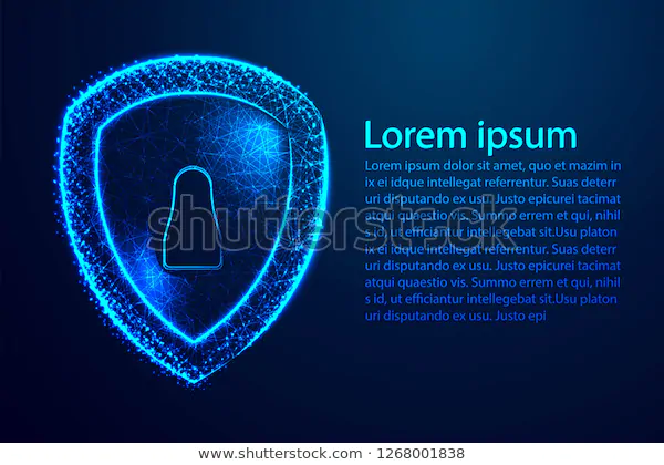 Cyber Security Concept Shield Keyhole Icon Stock Vector Royalty Free 1268001838 Cyber Security Cyber Concept