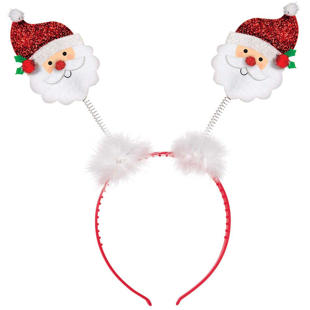 Amscan 10 In X 9 5 In Santa Christmas Head Bopper 4 Pack Christmas Fancy Dress Christmas Headband Kids Party Supplies