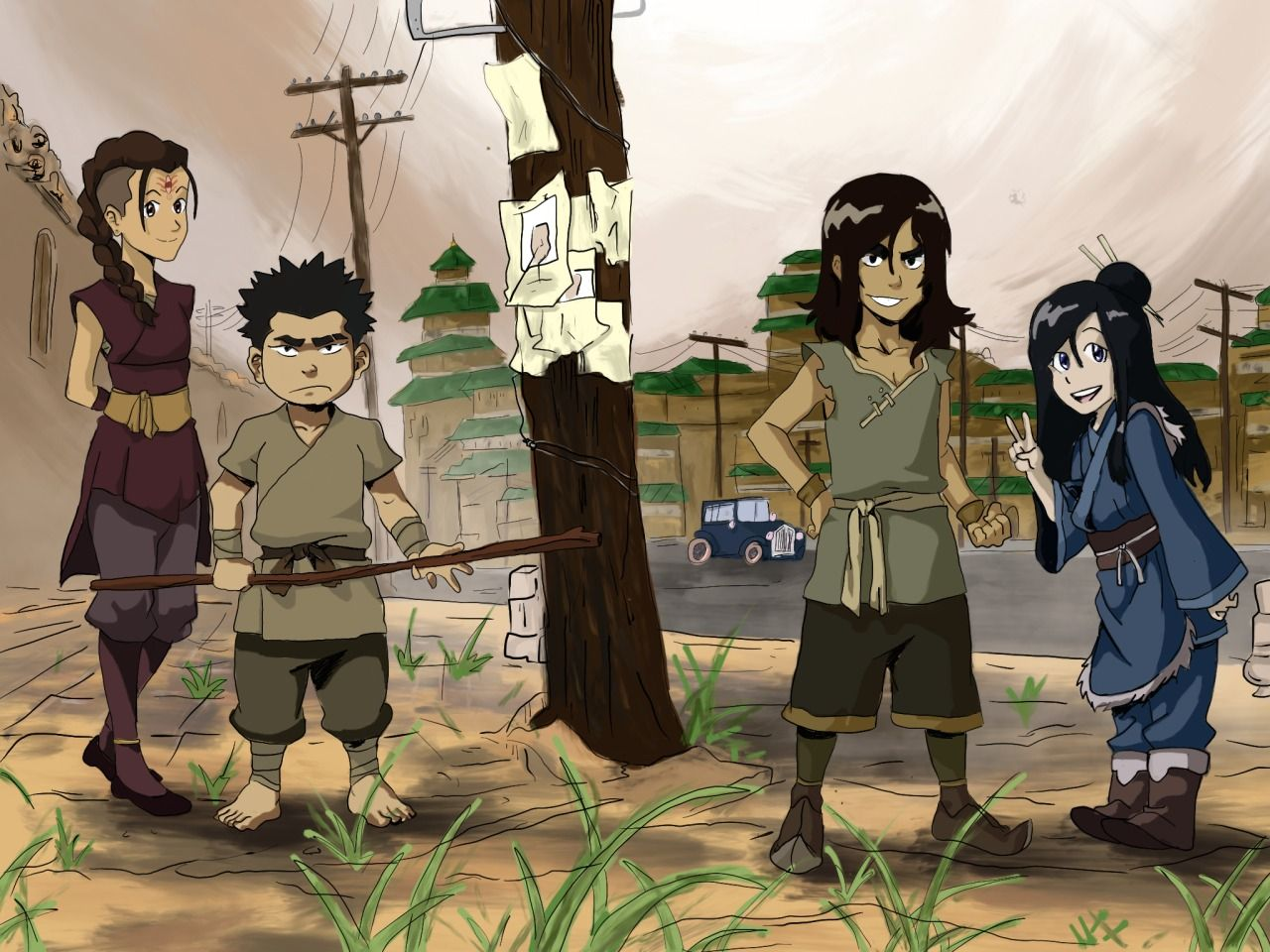 P Li Zaheer Gazahn And Ming Hua From Legend Of Korra Red Lotus