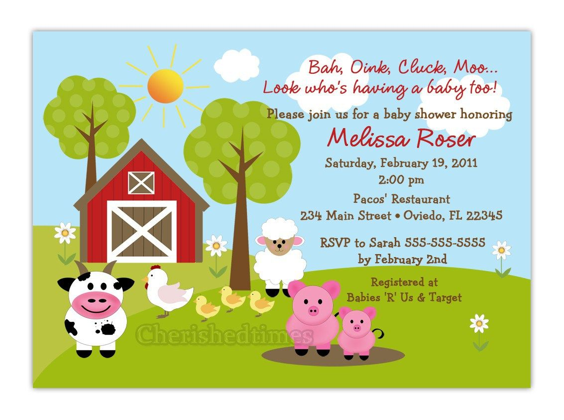 Free Printable Barnyard Farm Invitation Template 4 Images 4