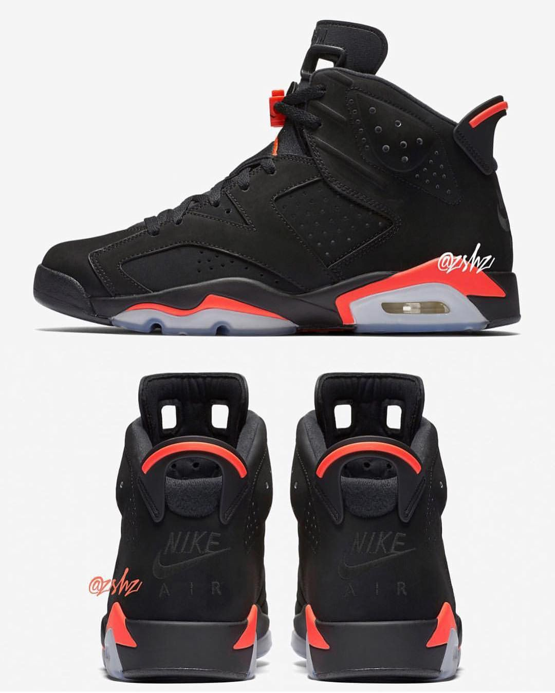 Air Jordan 6 Black Infrared | Chaussure nike jordan, Air