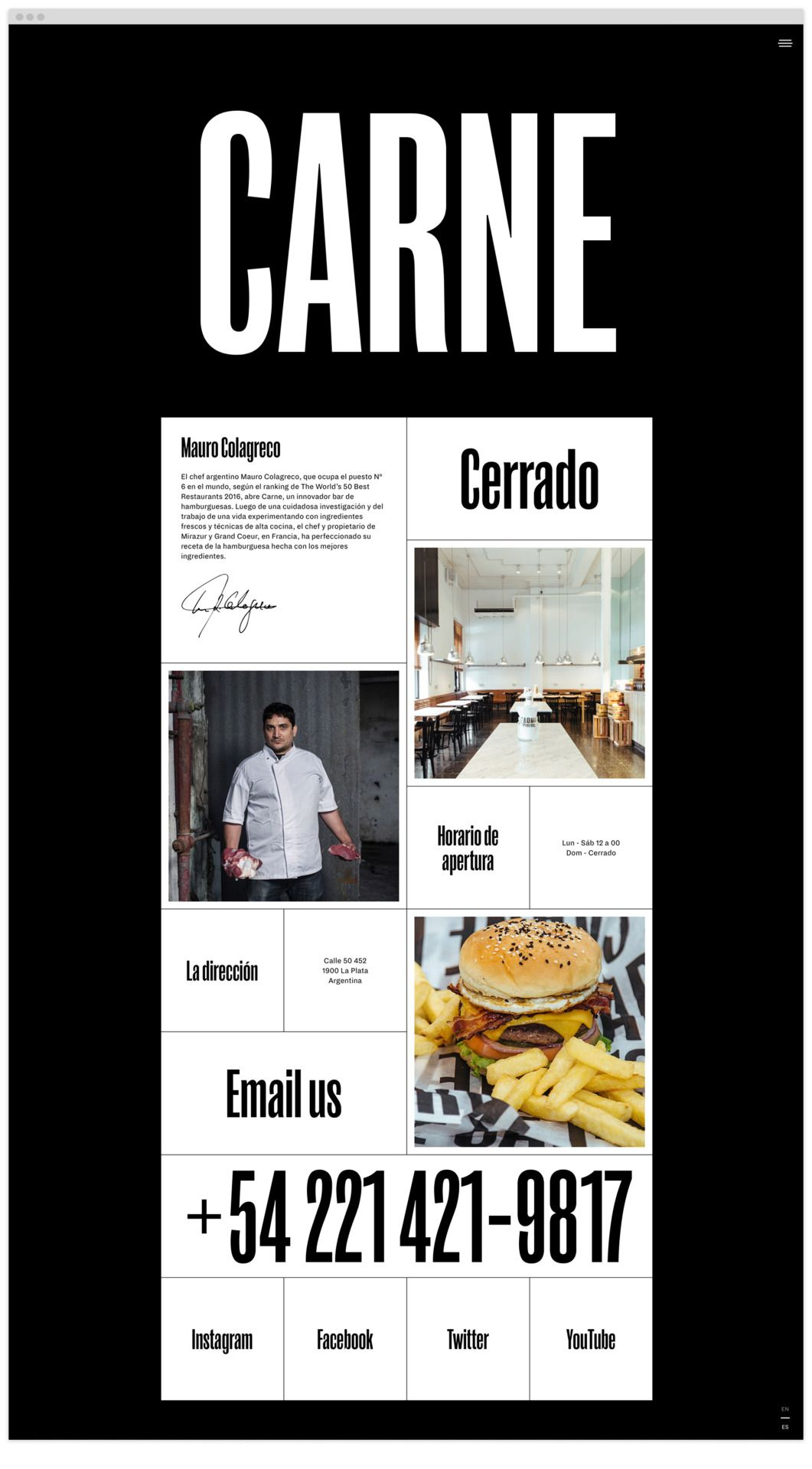 Wow Web 591 Carnehamburguesas Food Web Design Web Layout Inspiration Interactive Web Design