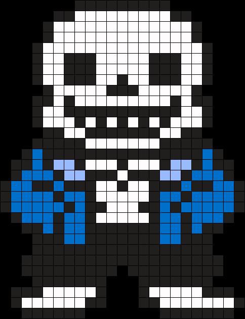 Undertale Sans Perler Bead Pattern Bead Sprite Undertale Pixel Art Pixel Art Grid Easy Pixel Art