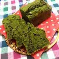 *抹茶と小豆の濃厚パウンドケーキ*