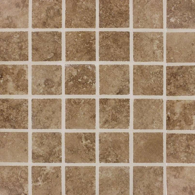 Ntrawal2x2 Travertino Walnut 2x2 Small Square Porcelain Brown Mosaic Porcelain Wall Tile Porcelain Mosaic Tile Wall Tiles