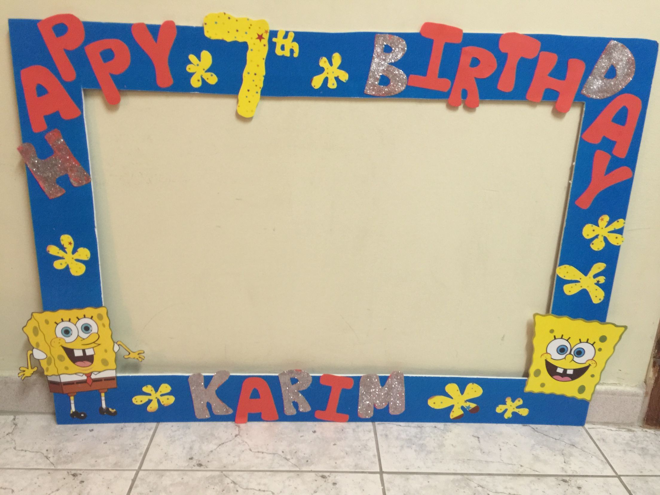 Spongebob birthday theme photo booth frame   Photobooth frames ...