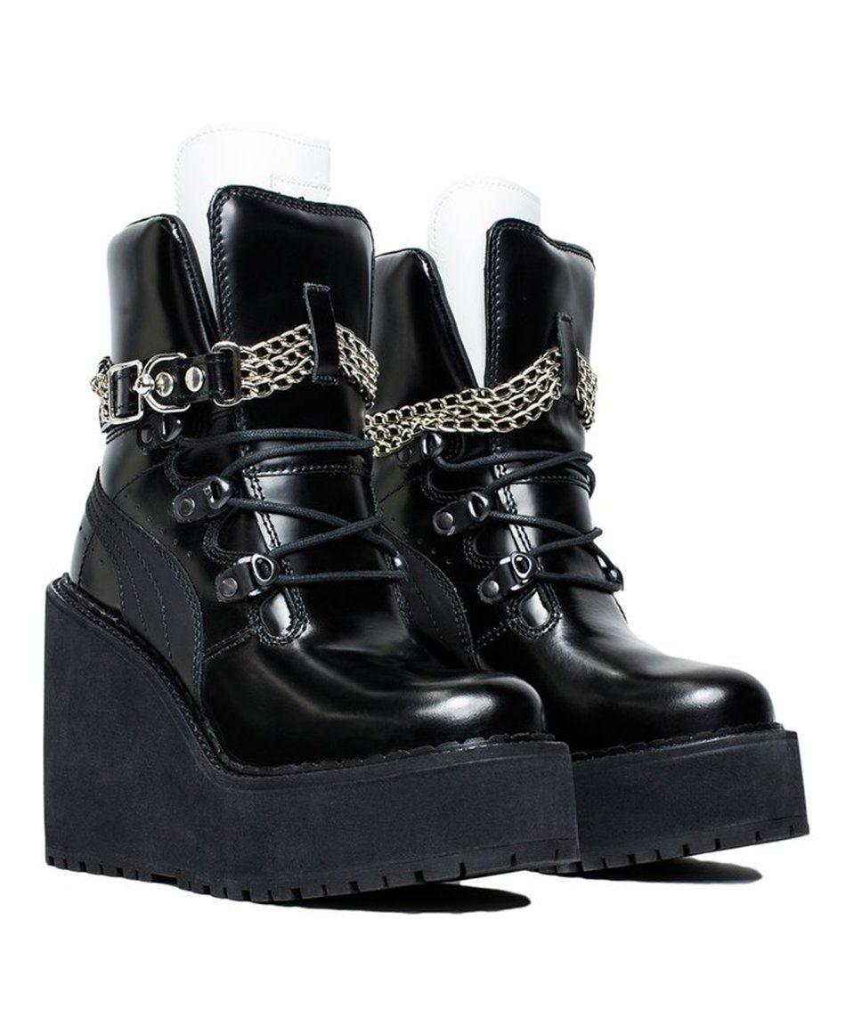 Loving this Puma Black Rihanna Sneaker Boot Wedge on  zulily!  zulilyfinds 4df667e91