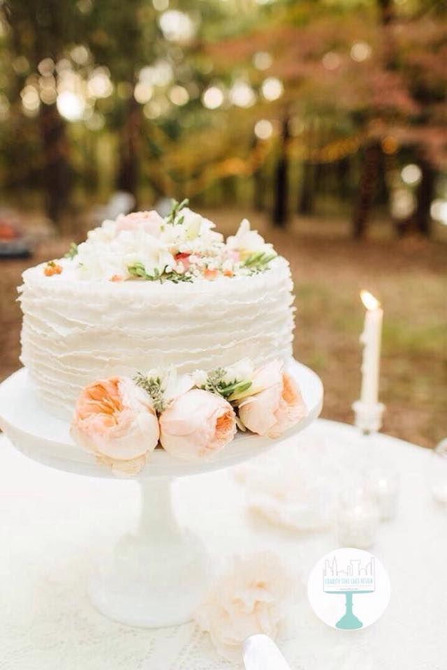 Classic Ruffle Buttercream | Single Layer Wedding Cake | Outdoor ...