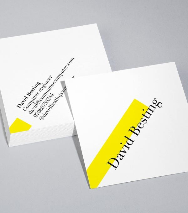 Square Business Card designs On A Tilt Biz Ness Pinterest