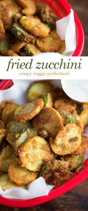 Fried Zucchini - This is a low carb fried zucchini recipe that you'll love!