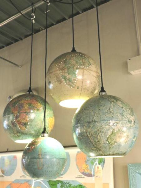 Transform Vintage Globe Into Pendant Light Diy Pendant Light