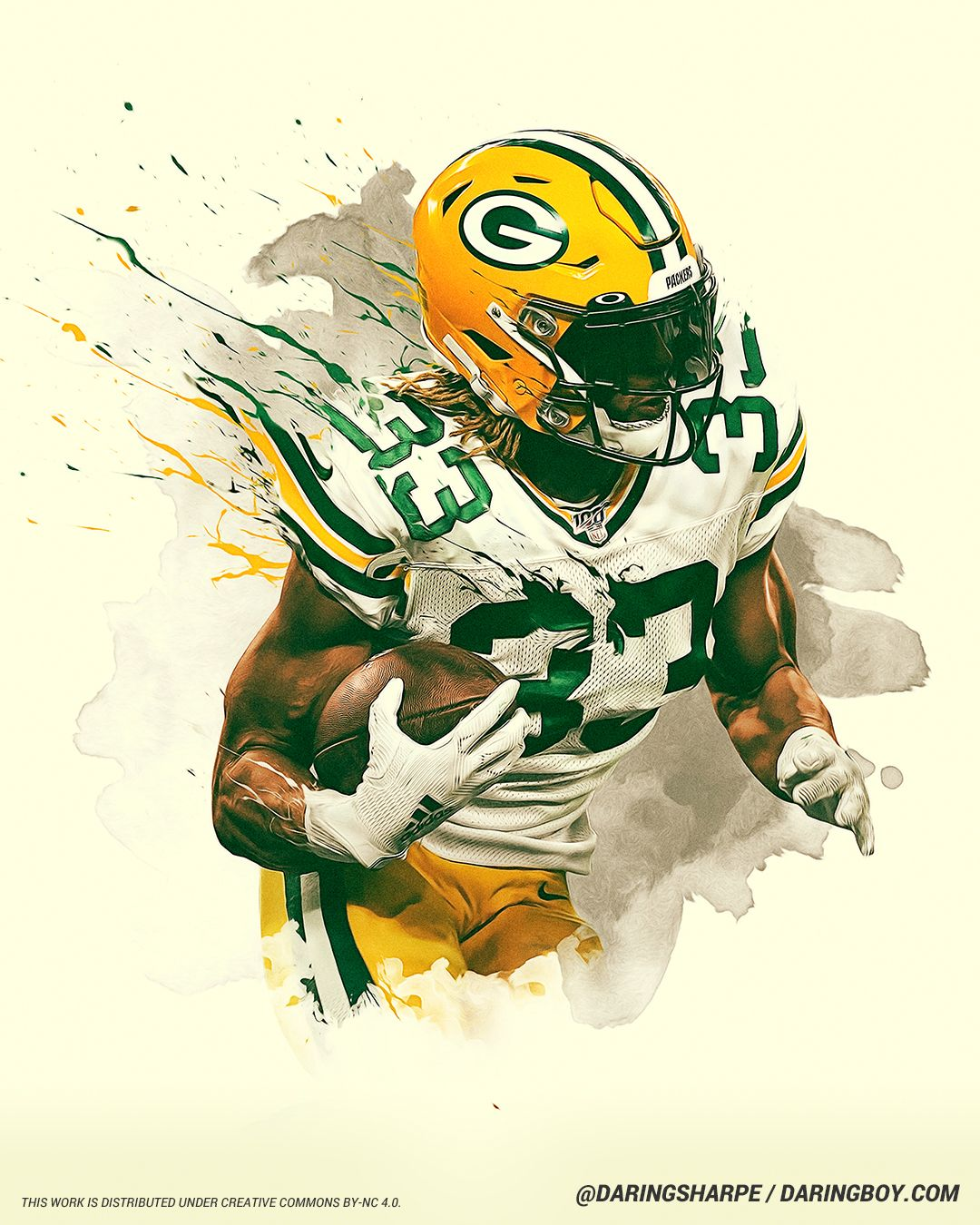 Aaron Jones Green Bay Packers In 2020 Green Bay Packers Green Bay Packers Wallpaper Packers