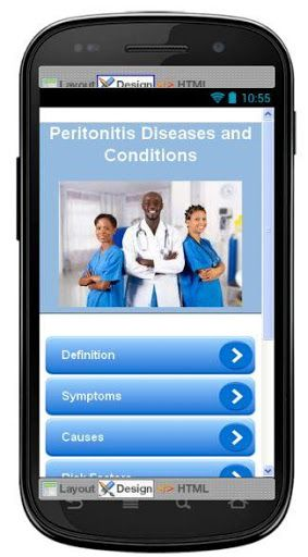 This app provides complete information about peritonitis diseases. Best comprehensive overview covers the symptoms and treatment of peritonitis . This app has been developed for everyone, all topics has been made to make it complete, useful and interesting.<p><br>We hope you will find this app very informative and useful. If you like it please do share it with your friends and family. Application does not overload you with complicated medical terminology, the language is clear and does not…
