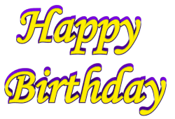 birthday text png transparent   Shadow Bordered Happy ...