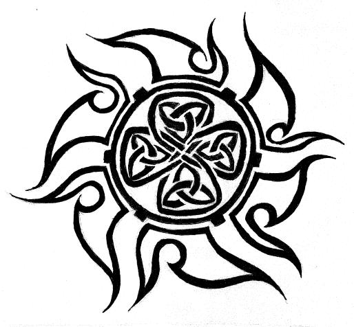 08b297af5eabc Celtic sun tattoo by ~MordredLeFay on deviantART | fun things | Sun ...