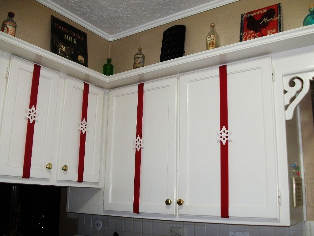Christmas Cabinets My Christmas Kitchen Cabinets This Year