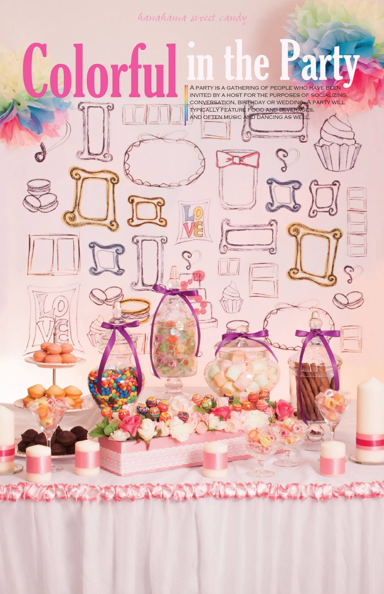 Colorful In The Party Candy Corner For Wedding Wedding Deco