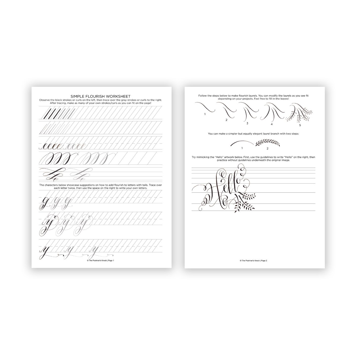 Free Printable Flourish Worksheet