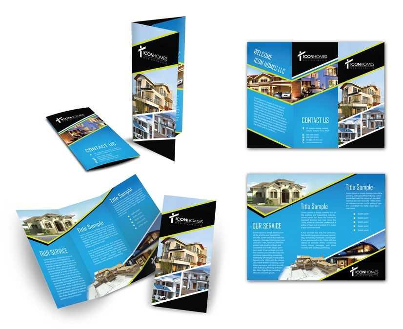 Create The Next Brochure Design For Icon Homes Llc By Arttero