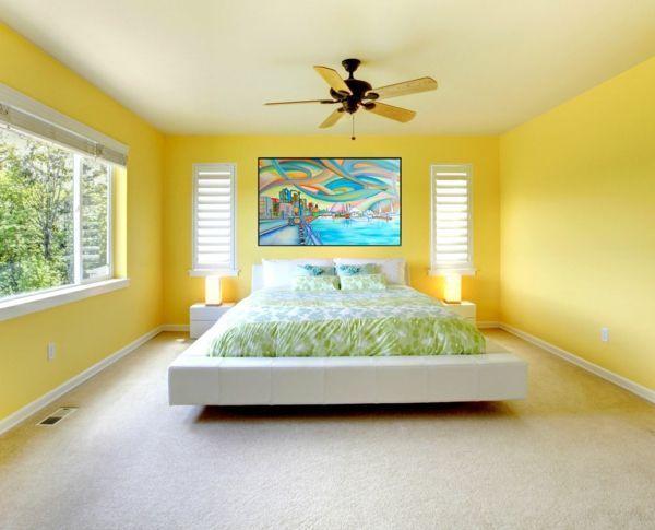 Feng Shui Bett Wandfarben Schlafzimmer Gelb Home Renovation In