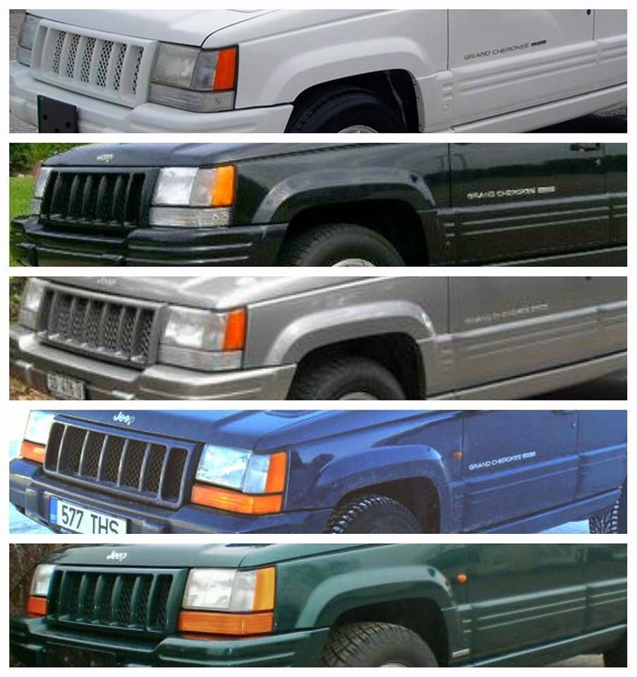 Colour Scale Jeep Zj